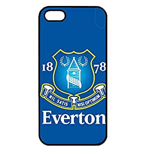 Iphone 5/5S Case,Everton Football Club Logo Protective Phone Case Black Hard Plastic Case Cover For Iphone 5/5S