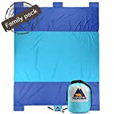 Sand Proof Compact Large Quick Drying Lightweight Durable Parachute Nylon Outdoor Beach Blanket Picnic Blanket Sand Resistant Oversized 7' x 9.5'