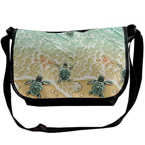 One Fashion Bag Black Sea Travel Satchel Starfish Turtle Men's Bag Beach Handbag Shoulder Bw6qCnH