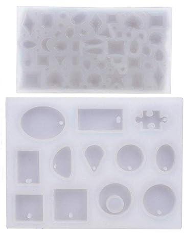 Molde Silicona Joyería Collar Pendiente Fabricación de Colgante Creativo Bricolaje DIY