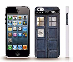 iStar Cases? iPhone 4 Case with Blue Police Box, Britain, Photo , Snap-on Cover, Hard Carrying Case (White)