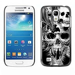 - Skull Devil Diablo - - Monedero pared Design Premium cuero del tir¨®n magn¨¦tico delgado del caso de la cubierta pata de ca FOR Samsung Galaxy S4 MiniI9190 I9192 I9195 Funny House