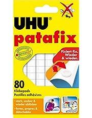 UHU 1648810 Lot de 80 pastilles adhésives Patafix (Blanc) (Import Allemagne)