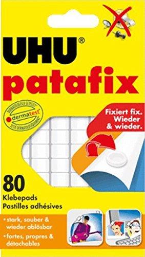 UHU Patafix - Paquete de 21 parches adhesivos reposicionables para la fijación de objetos de hasta 3kg UHU Spain 47905