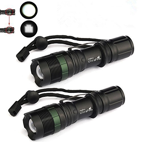 15000 Lumen Zoomable LED Flashlight Torch Tactical Light Aluminum 2X