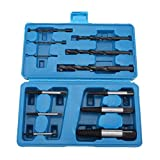 12Pcs Steel Screw Extractors and Drill Bits Guide Set, Spiral Drill Bit and Damaged Screw Broken Bolt Extractor Set