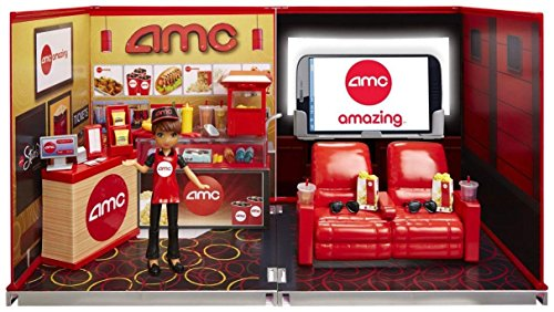 Price comparison product image miWorld Deluxe Environment Set with Doll-AMC Movie Theater