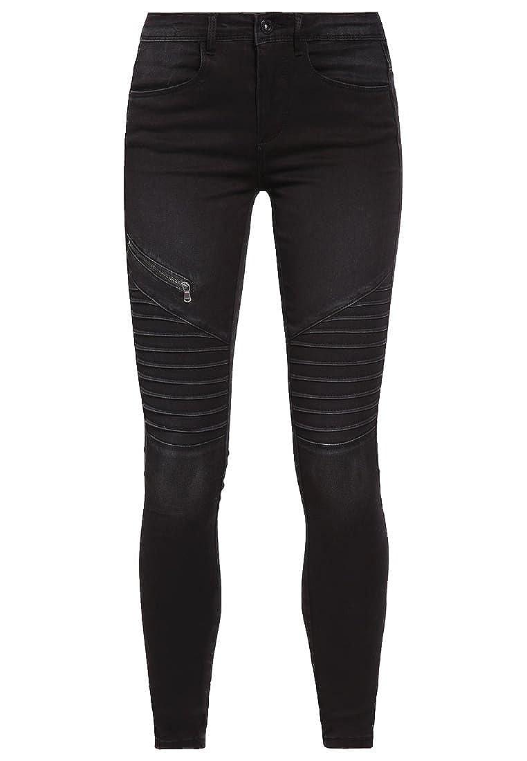8b9807a19497 ONLY Damen Jeans Leggings ROYAL REG Biker PIM615 grau schwarz (40W ...