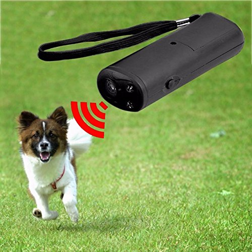 Michelle 3 in 1 Anti Barking Stop Bark Dog Training LED Ultrasonic Anti Bark Barking Dog Training Repeller Control Trainer Device by Michelle