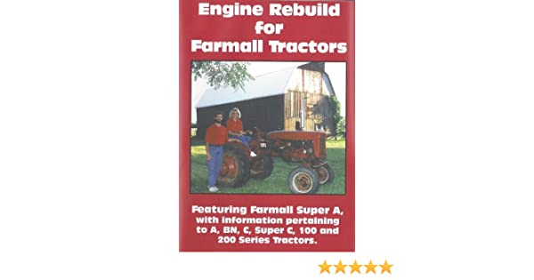 Amazon com: Engine Rebuild for Farmall Tractors DVD