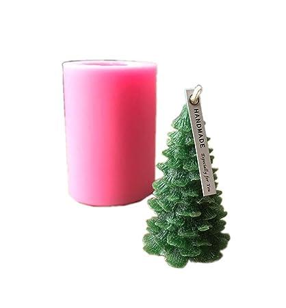 Goldblue Christmas Pine Tree Candle Molds/Silicone Molds/Soap Molds/Baking  Molds DIY - Amazon.com: Goldblue Christmas Pine Tree Candle Molds/Silicone Molds