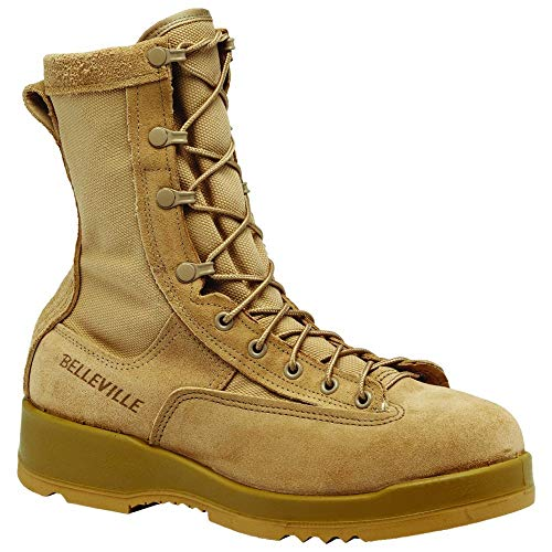 Belleville 330 Hot Weather Steel Toe Flight Boot Desert Tan, Made in USA, 8.5W