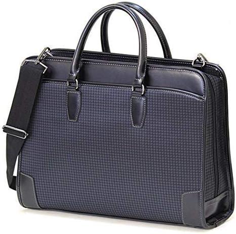 タイプDJ 千鳥柄ブリーフケース スーツスタイルにもジャケットスタイルにもよく似合う 荷物をたっぷり収納 軽量約910g 極上品 +[栃木レザー] 日本製キーストラップ