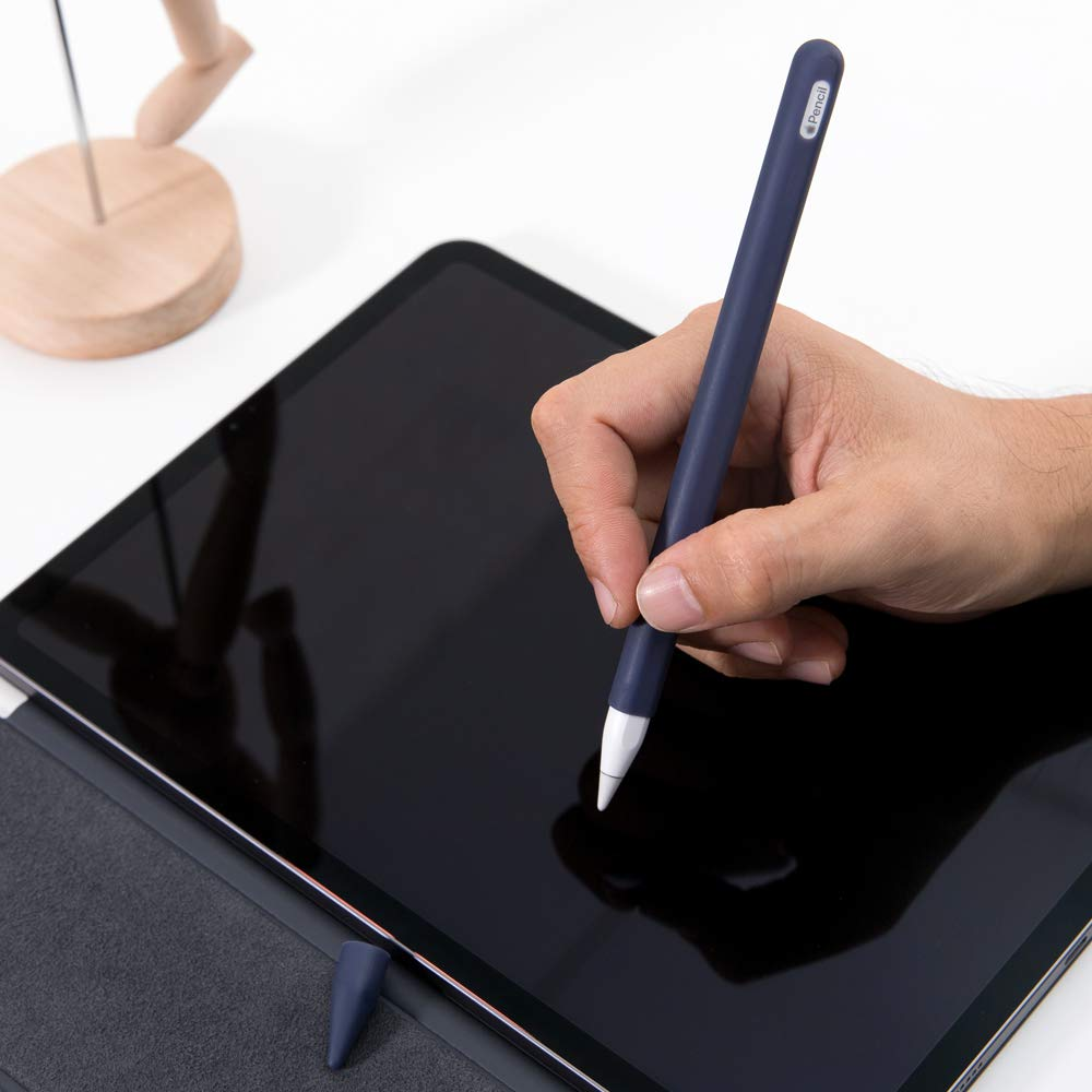 """2nd Generation 3rd Generation Nib Cover Silicone Case Sleeve Holder Grip 2 Pieces Black FRTMA Compatible Apple Pencil /& iPad Pro 11/"""" Accessories Kit Compatible iPad Pro 12.9/"""""""