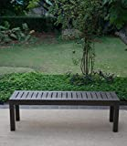 Cambridge-Casual 817140 Alfresco Backless Bench, Grey For Sale