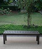 Cambridge-Casual 817140 Alfresco Backless Bench, Grey
