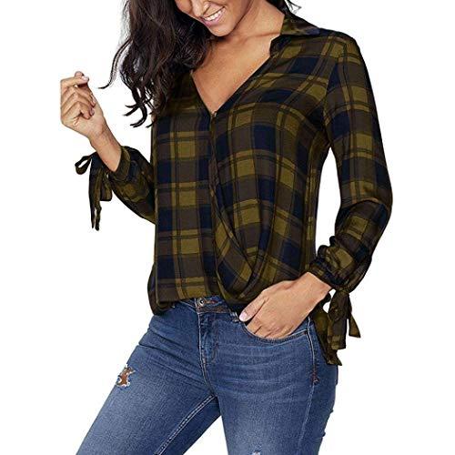 Tops Neck Hipster Donna Manica Farfalla Magliette Primaverile Gr Abbigliamento Lunga Casuali A Blusa Cravatta Reticolo Coat V Autunno Moda Elegante Camicetta rrOUq0w