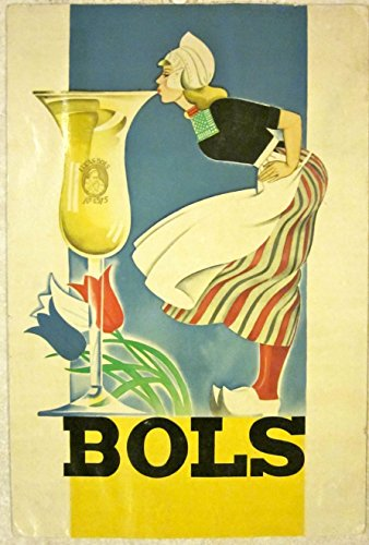 CUT 60 1950s ALCOHOL ADVERTISING STANDEE - BOLS - COOL VINTAGE WOMAN ARTWORK