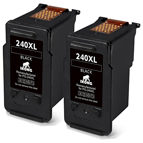 IKONG Remanufactured Ink for Canon PG-240XL 240 XL 240XL Ink, 2 Black, Work with Canon PIXMA MX472 MX432 MX452 MX532 MX522 MX512 MX392 MG3620 MG3520 MG3220 MG2220 MG3522 TS5120 Printer by IKONG