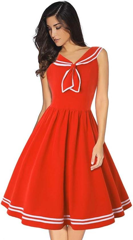 JJHR Vestido Vestido De Verano Pin Up Dresses 50S Rockabilly ...