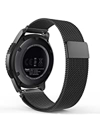 Gear S3 Watch Band, MoKo Milanese Loop Stainless Steel Bracelet Smart Watch Strap for Samsung Gear S3 Frontier / S3 Classic / Moto 360 2nd Gen 46mm Smartwatch, BLACK (NOT FIT S2 & S2 Classic & Fit2)