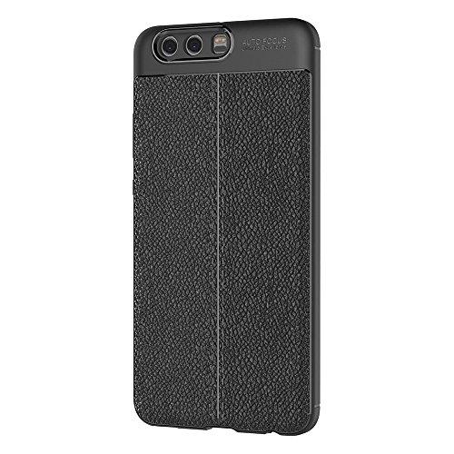 Funda Huawei P10 Plus, AICEK Negro Silicona Fundas Para Huawei P10 Plus Carcasa Huawei P10 Plus Fibra De Carbono Funda Case (5,5 Pulgadas)