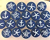 Set of 4 beach motiff knobs with screws, Hand-painted wooden knobs for cabinets, dresser, drawer pulls, any color custom/beach house/bathroom/kitchens/bedroom/beach lover/kids room