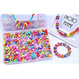 Jewelry Beads Toys, Magnolian Handmade Jewelry Making Kits for Children Bracelets, Necklace, Early Childhood Education Toys & Perfect Christmas Gift-550 Pcs