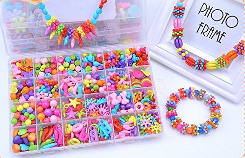Jewelry Beads Toys, Magnolian Handmade Jewelry Making Kits for Children Bracelets, Necklace, Early Childhood Education Toys  Perfect Christmas Gift-5…