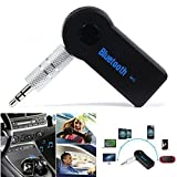 Meecase Wireless Bluetooth Receiver Adapter 3.5MM AUX Audio Stereo Music Home Handsfree Car Kit Bluetooth Stereo Adapter Compatible With All Android And IOS Devices - Random Colour
