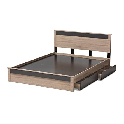 Amazoncom Jamie Modern And Contemporary Two Tone Oak And Grey Wood