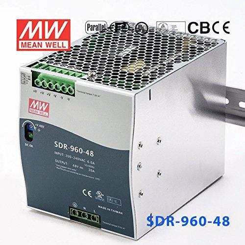 20a Thin - Meanwell SDR-960-48 Power Supply - 960W 48V 20A - Slim High Effi.