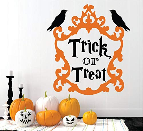 Dozili Trick Or Treat Halloween Decal Halloween Halloween Wall Decal Haunted Decal Haunted House Halloween Party Bats 16