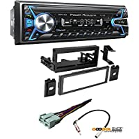 Power Acoustik PL-51B 1-DIN Digital Audio Head Unit With 32GB USB/SD/AUX/Bluetooth CAR STEREO RECEIVER DASH INSTALL MOUNTING KIT WIRE HARNESS CADILLAC CHEVROLET GMC 1995- 2005