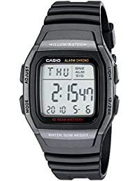 Mens W96H-1BV Classic Sport Digital Black Watch