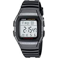 Men's W96H-1BV Classic Sport Digital Black Watch