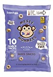 Messy Monkeys Pizza Flavored Whole Grain Bites - 10 Individual 0.5oz Single Serving Bags