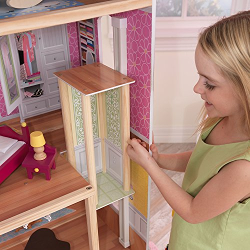 51c0VKcEDeL - KidKraft So Chic Dollhouse with Furniture
