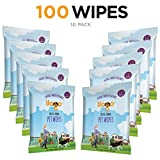 Yogo Grooming Pet Wipes Dogs Cats Other Pets, Soft Strong Deodorizing Natural Fresh Wipes, 10 On-The-Go Travel Packs - 100 Wipes Total