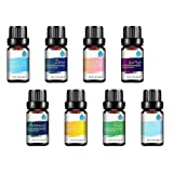 Pursonic 100% Pure Essential Aromatherapy Oil Blends Gift Set -8 Pack, 10ml, 0.75 lb