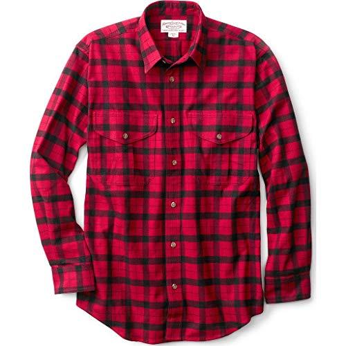 Filson Alaskan Guide Shirt - Extra Long - Red-Black - Large