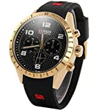 Curren Casual Watch For Men Analog Rubber - 8167GB