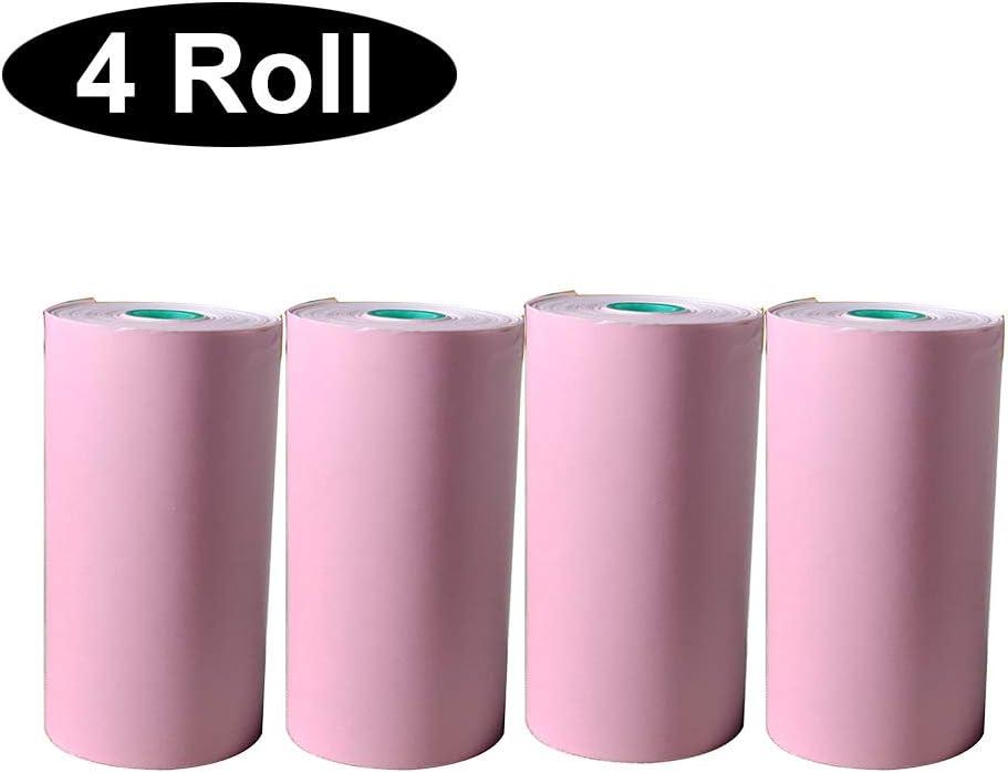 57x30MM BPA Free Thermal Cash Register Rolls POS Receipt Paper Roll Waterproof Oilproof Scartchproof 4 Rolls Pink 2 1//4X 32