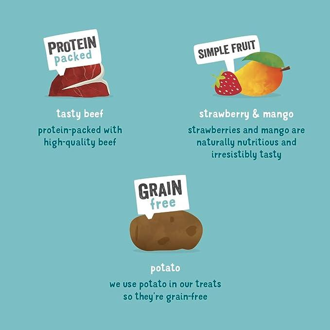 Edgard & Cooper chuches para Perros sin Cereales. Premios Naturales Ricos en proteínas hasta un 85% de Carne cocinada al Horno con Ingredientes ...