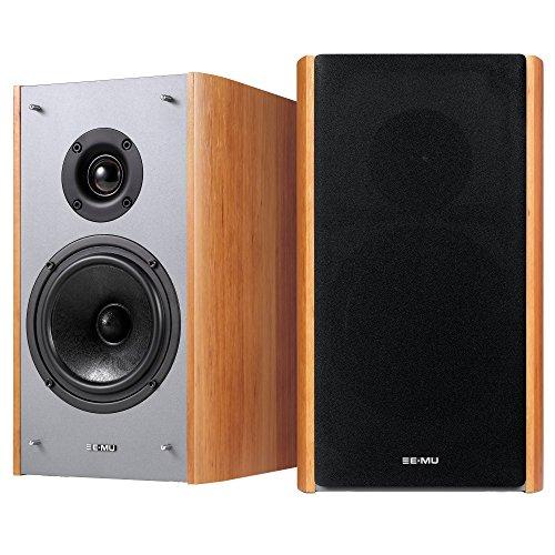 E-MU XM7 Passive Bookshelf Speakers, Brown Wood Grain