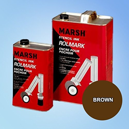 Marsh Rolmark Brown Ink - Gallon