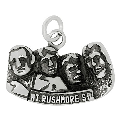 (Sterling Silver Mount Rushmore Charm (Approximately 21 x 14 mm))
