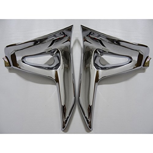 Wotefusi Motorcycle New 2 Pieces Pair ABS Chrome Bodywork Fairing Set Battery Side Protector Cover Molding Trims For Honda GL1800 Goldwing 2006-2011 2007 2008 2009 2010