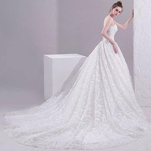 Queue Princesse Simple Tube Haut De Robe Blanc Sen Mince Rêve Mariée Momo wq0txU