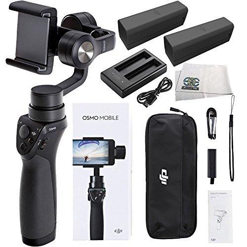 DJI OSMO M Mobile Handheld Stabilized Gimbal for Smartphones Essentials Bundle